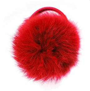 Verity Jones Pom Pom Hair Elastic Large Scarlet