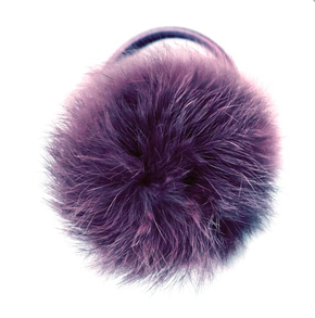 Verity Jones Pom Pom Hair Elastic Large Shadow Purple