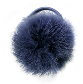 Verity Jones Pom Pom Hair Elastic Large Peacock Blue
