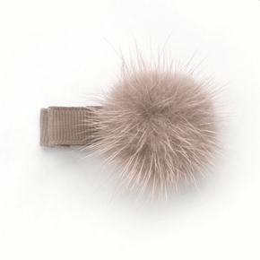 Verity Jones Pom Pom Hair Clip Small Antique Mauve