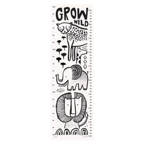 Wee Gallery Growing Wild Textile Growth Chart - Safari Animals