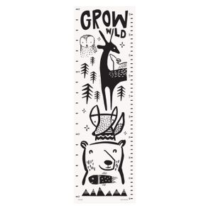 Wee Gallery Growing Wild Textile Growth Chart - Woodland Animals