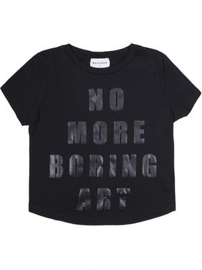 Wolf&Rita AW17 Sebastiao T-Shirt No More Boring Art Black