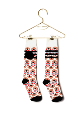 Wolf&Rita SS18 Long Socks Stripes Black