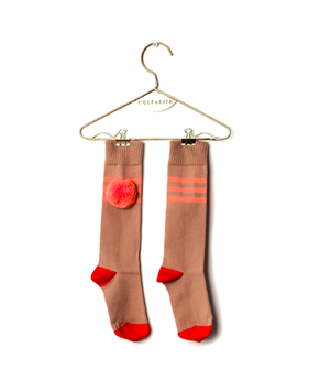 Wolf&Rita SS18 Long Socks Stripes Coral