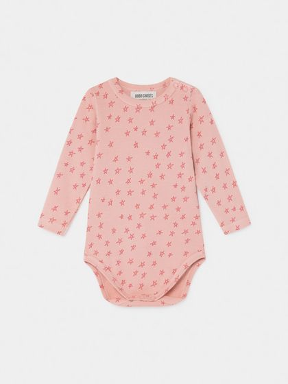 Bobo Choses AW19 All Over Stars Long Sleeve Body Pink