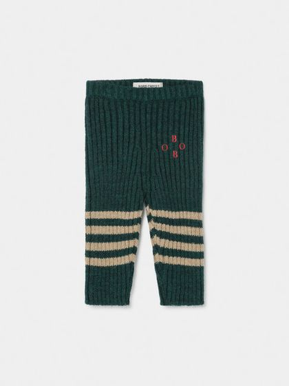 Bobo Choses AW19 Baby Knee Stripes Knitted Legings