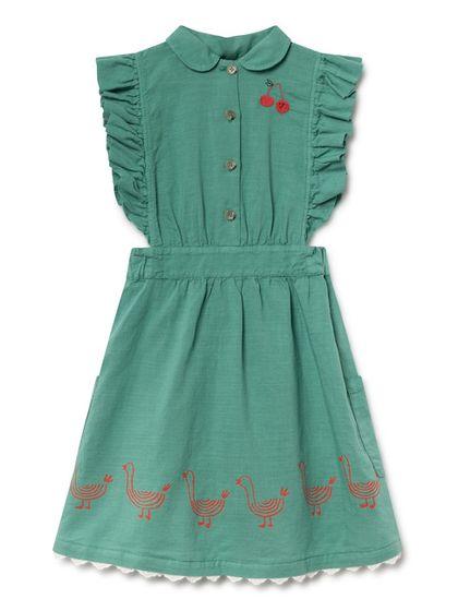 Bobo Choses SS19 Geese Ruffled Dress