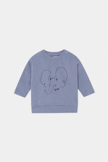Bobo Choses SS20 Baby Sweatshirt Elephant