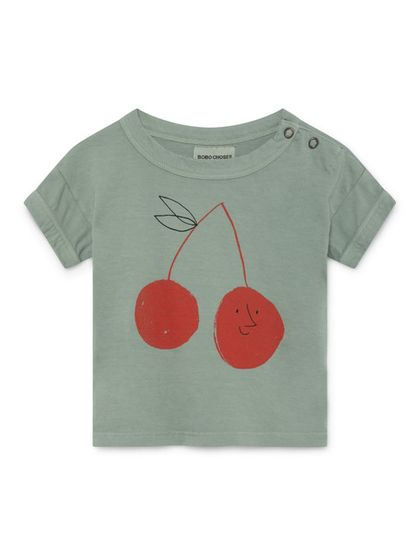 Bobo Choses SS19 Cherry Short Sleeve T-Shirt for babies