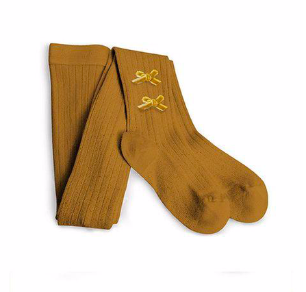 Collegién AW19 Tights Honey Yellow with a Bow