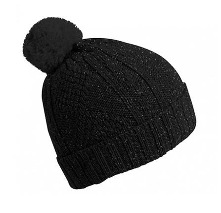 Collegién  Bonnet en laine avec pompon Black