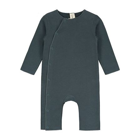 Gray Label AW18 Baby Suit  with Snaps Blue Grey
