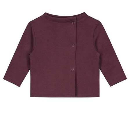 Gray Label AW18 Baby Button Cardigan Plum