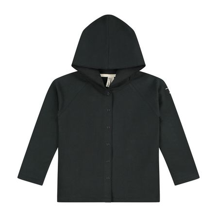 Gray Label AW19 Relaxed Hooded Cardigan Nearly Black