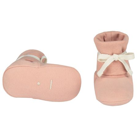 Gray Label AW19 Baby Ribbed Booties Vintage Pink