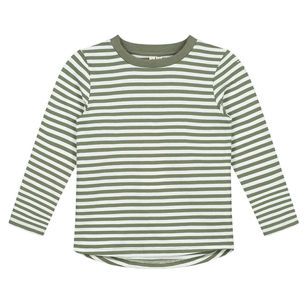 Gray Label AW19 L/S Striped Tee Moss/Cream