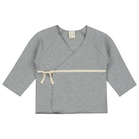 Gray Label AW19 Baby Cross Over Cardigan Grey Melange