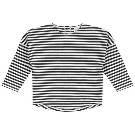 Gray Label SS19 L/S Dropped Shoulder Tee Nearly Black/White Stripe