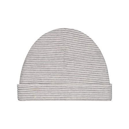 Gray Label SS20 Baby Beanie Grey Melange/Cream Stripe