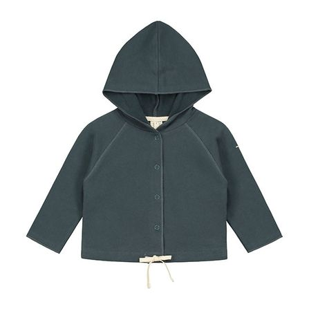 Gray Label SS20 Baby Hooded Cardigan Blue-Grey