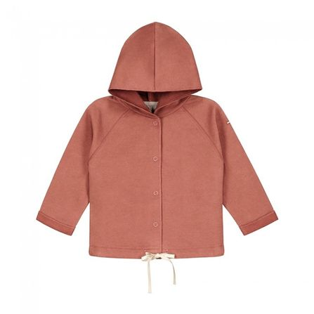 Gray Label SS20 Baby Hooded Cardigan Faded Red