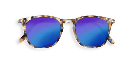 Izipizi Adults #E Sun Blue Tortoise Blue Mirror Lenses