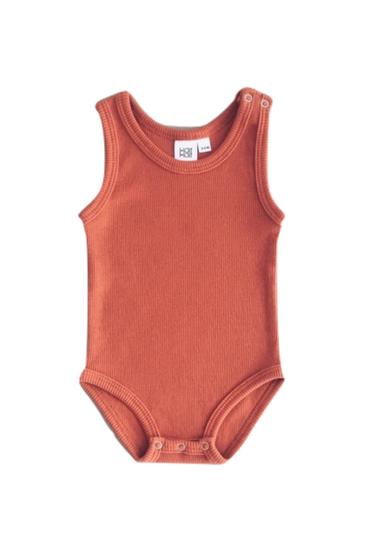 KaiKai Ribbed Bodysuit Orange