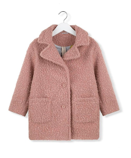 Kids on the Moon AW19 Faux Fur Coat Pink Moss