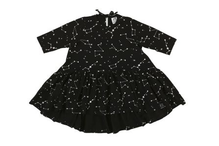 Kukukid AW17 Longsleeve Dress Black Constellation
