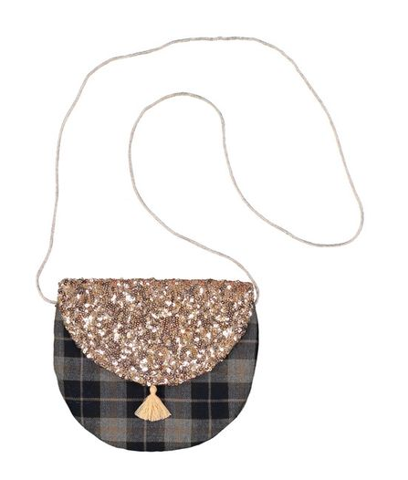 Luciole et Petit Pois AW19 Half Moon Bag Scottish Sequin