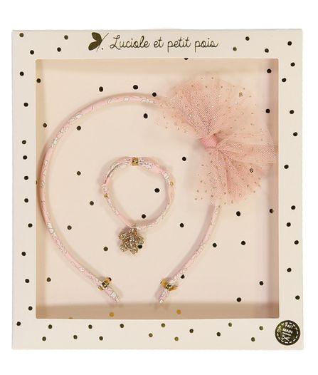 Luciole et Petit Pois Headband Gift Box Set Liberty  Rose Nude