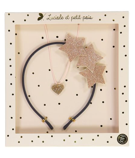 Luciole et Petit Pois Headband and Necklace Gift Box Set  Pink