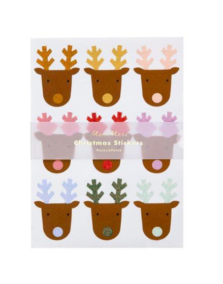 Meri Meri AW19 Glitter Reindeer Sticker Sheets
