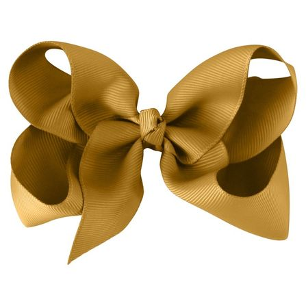MIlledeux Large Alligator Clip Bow Dijon