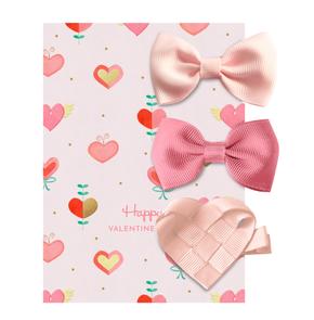 Milledeux Valentines Aligator Clip Set Pink
