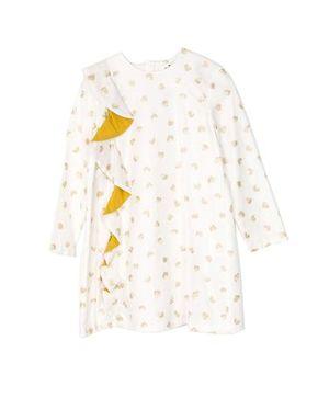 Motoreta AW17 Lyra Dress White with Golden Dots