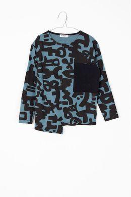 Motoreta T-Shirt Lolo Blue & Black Print