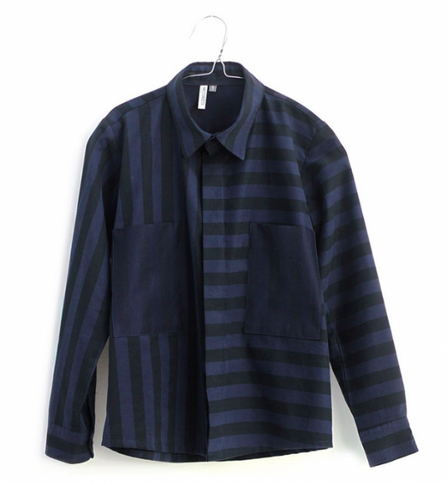 Motoreta Shirt Hans Blue-Black Stripes