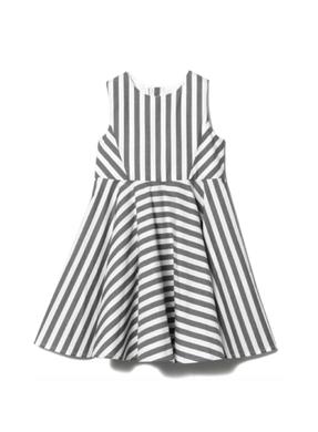 Motoreta Dress Rosa Black and White Stipes