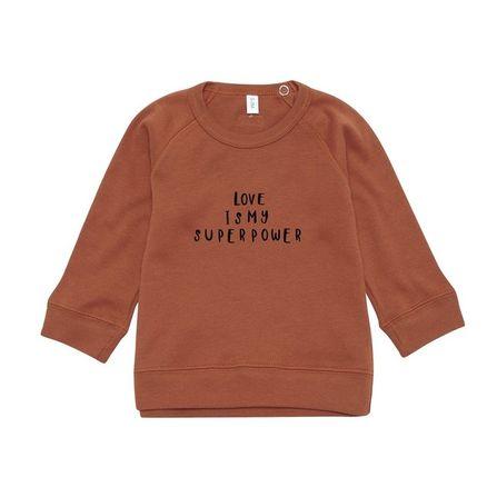 Organic Zoo AW18  Rust Sweatshirt Love