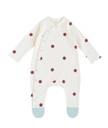 Organic Zoo AW19 Dots Suit with Contrast Feet