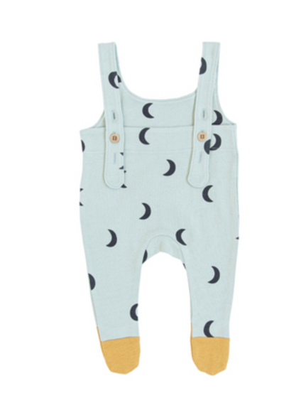 Organic Zoo AW19 Midnight Moon Salopettes with Contrast Feet