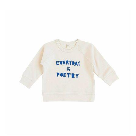 Organic Zoo AW19 Sweatshirt Everyday is Poetry