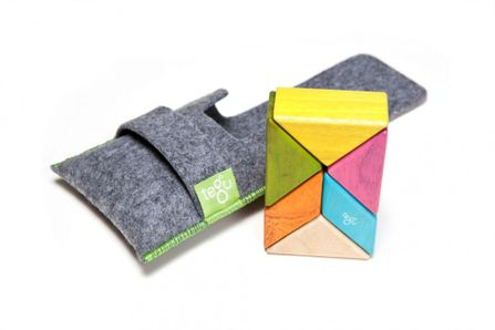 TEGU Prism Pocket Pouch 6 blocks Tints