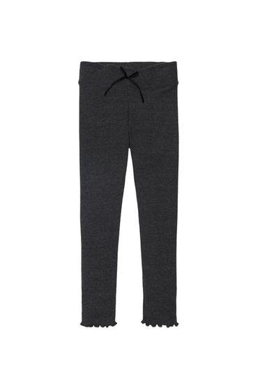 The New Society Betty Rib Pants Dark Grey Melange
