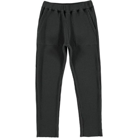 The New Society Waffle Pants Dark Grey