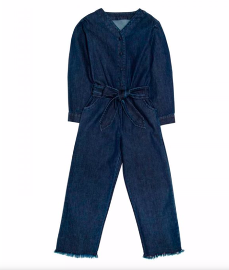 The New Society Lana Embroidered Jumpsuit Denim