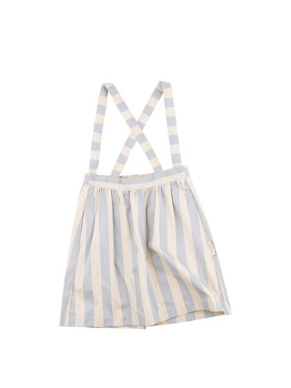 tinycottons SS18 Stripes wv braces skirt