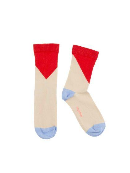 tinycottons SS18 Geometric Medium Socks Red